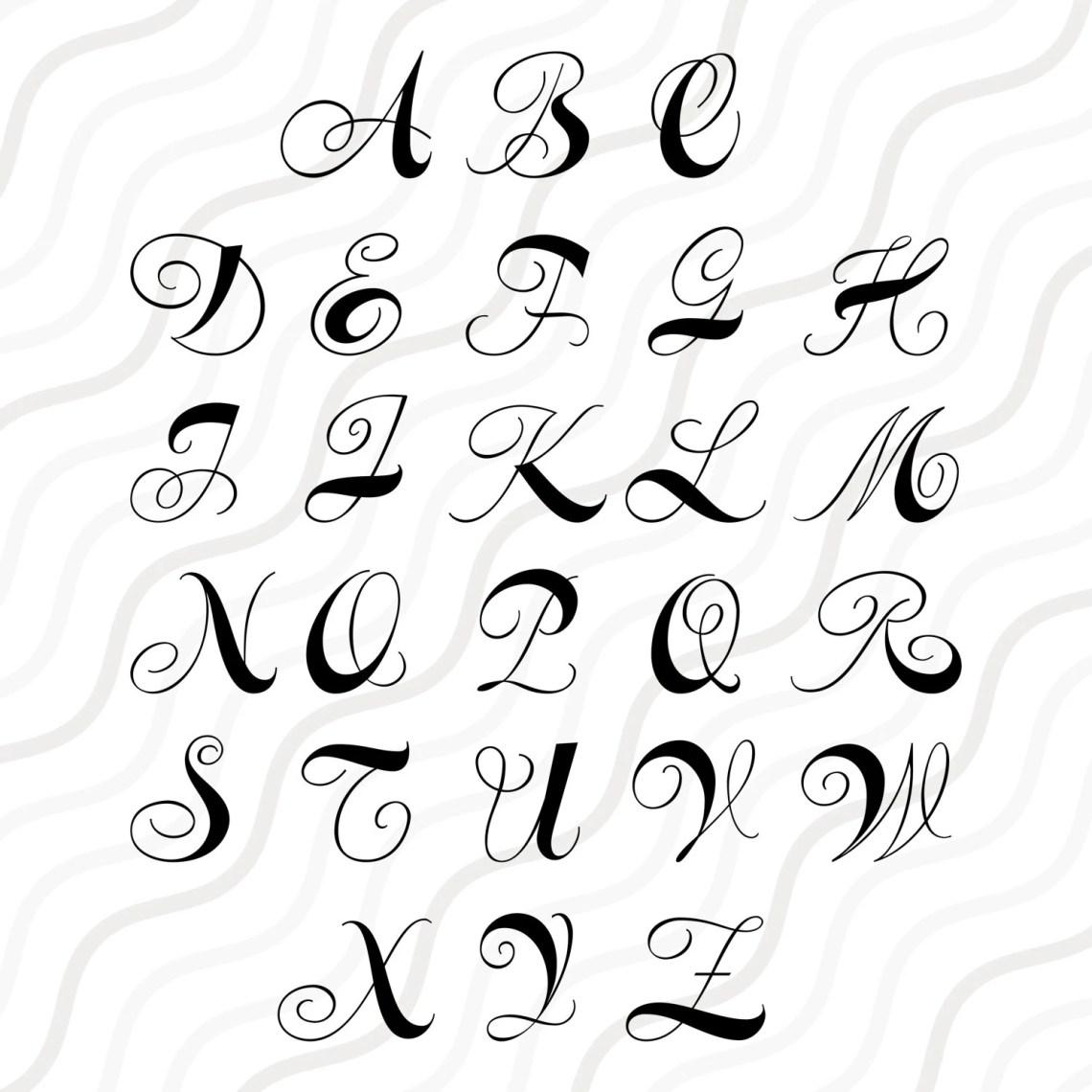 Download Curls Monogram Font SVG Cricut Monogram Font SVG Monogram ...