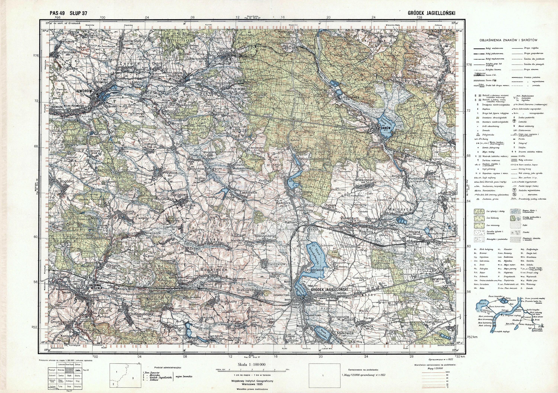 Poland Printable Map Topographic