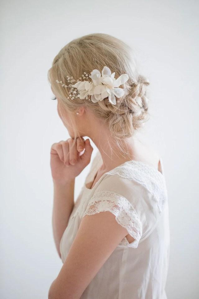 bridal silk flower, flower hair clip, bridal flower comb, silk flower hair comb, bridal floral hair comb, bridal hair comb