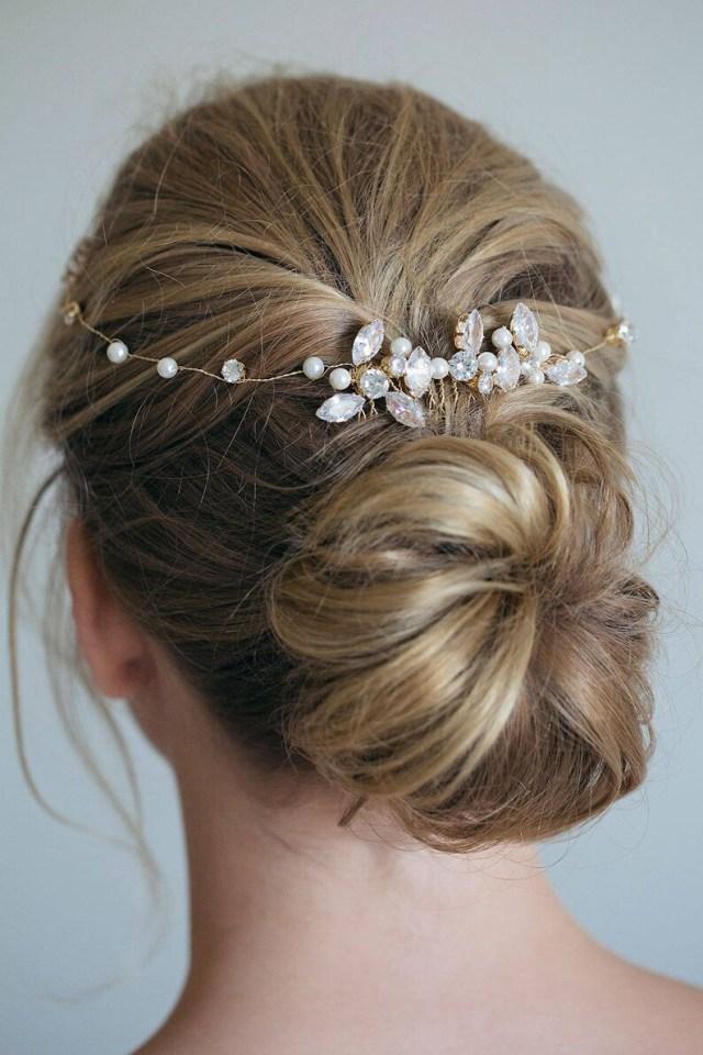 bridal hair vine, bridal hair comb, crystal hair comb, gold hair comb, rhinestone hair comb, gold hair vine, bridal hair accessoreis