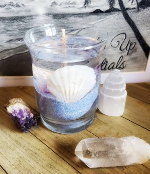 Amethyst gel candle/affirmation candle/inner peace image 0