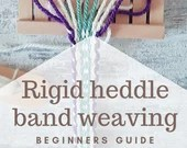 Rigid heddle band weaving guide for beginners, explanation and patterns for hand woven trimmings, viking heddle board technique