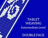 double face tablet weaving instructions, learn how to weave decorative bands, pdf tutorial for intermediate weaving