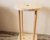 Marudai stand for japanese kumihimo, loom kit with wood reels, create beautiful braid bracelets and necklace, gift idea for crafters