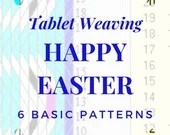 Easter Tablet weaving patterns, basic template to create colorful belts and decorative ribbons, immediate download pdf patterns