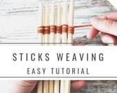 sticks weaving instructions, weaving wand tutorials, immediate download pdf file, medieval historical reenactment