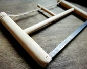 Medieval hacksaw, carpenter and bowmaker tools, saw for wooden nocks, middle age historical reenactment
