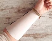 High leather cuff, archer armguard, traditional archery protection, archery accessory, gift idea for beginners