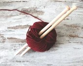 wooden knitting needles US 17, oversized knitting tools for chunky wool, gift idea for knitters, valentines day gift for crafters