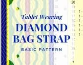 Bag strap tablet weaving pattern diamond, card weaving tutorial for beginners, medieval weaving