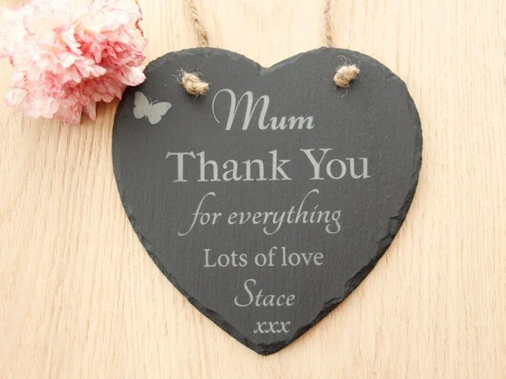 Mum Heart Slate Plaque