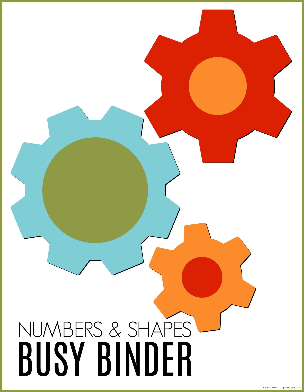 Numbers Amp Shapes Busy Binder Printable Preschool
