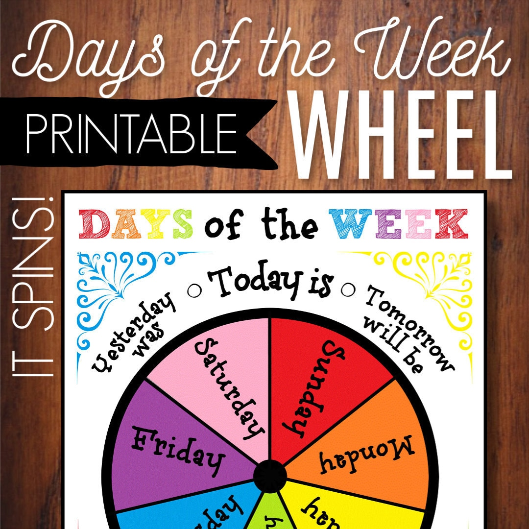 Days Of The Week Printable Wheel Circle Time Calendar