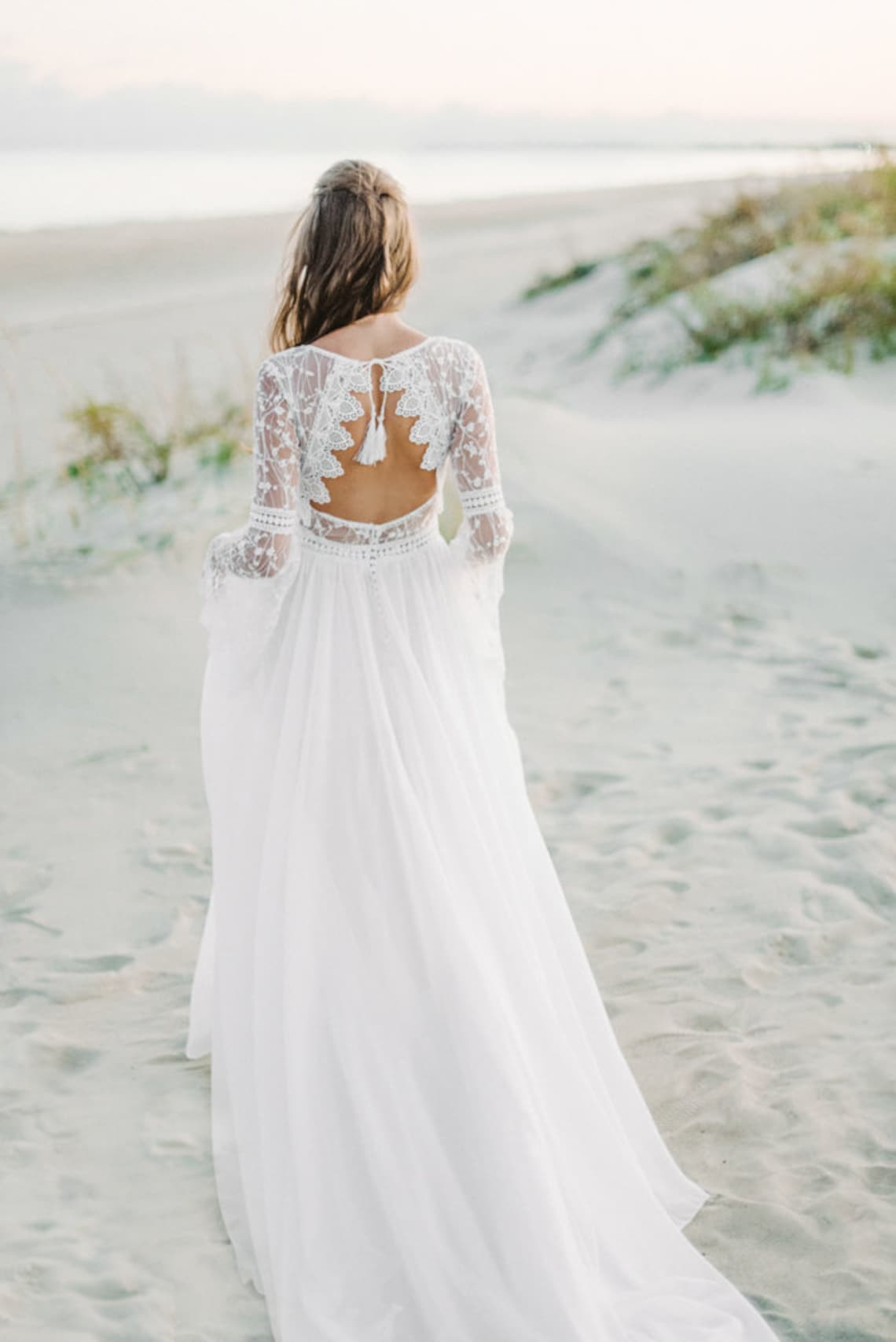Casual Wedding Dresses With Sleeves On Sale, UP TO 18 OFF