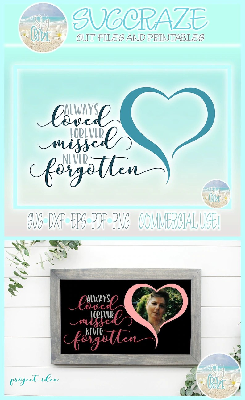 Download Always Loved Forever Missed Never Forgotten Quote SVG ...