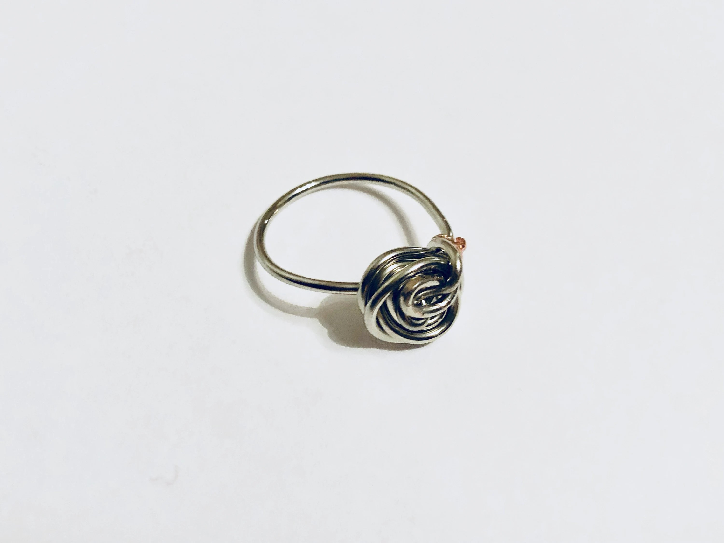 Silver Swirl Ring Wire Wrapped Ring Ring Jewellery Ring