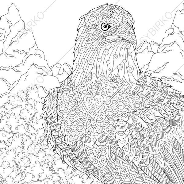 Eagle Hawk Falcon Coloring Pages For Independence Day