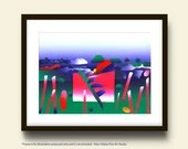 Jazz On a Summer's Day,  Fine Art Print Made To Order  by Ken Falana