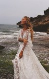 Counting Stars Boho Wedding Dress By Boom Blush Unique Etsy - Wedding Dress, Casual Boho Beach Wedding Dress With Side Slit Sophia Tolli