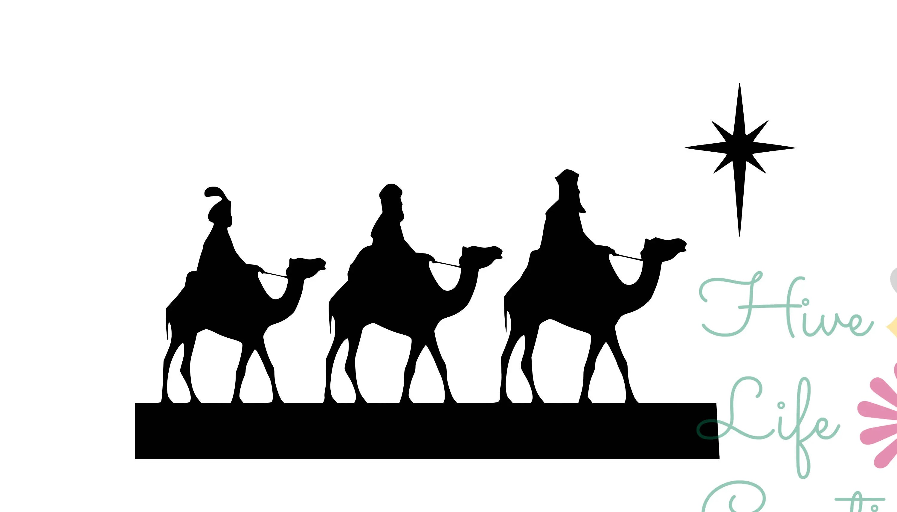 Three Kings Instant Download Christmas Three Kings Svg