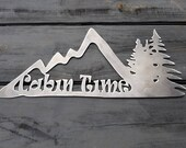 Cabin Time Mountains Pine...