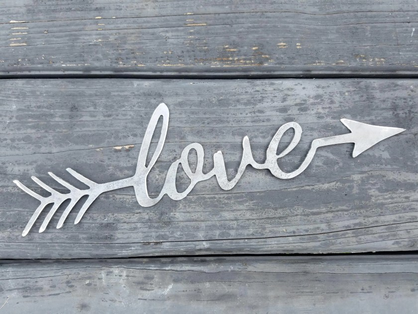 Love Arrow Cupid Metal Pl...