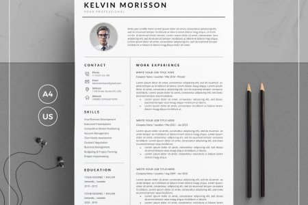 Cv template   Etsy Resume Template CV Template   Cover Letter for Word   Clean Resume Template  with Photo   1  2   3 Page Resume   Instant Download   KM Resume