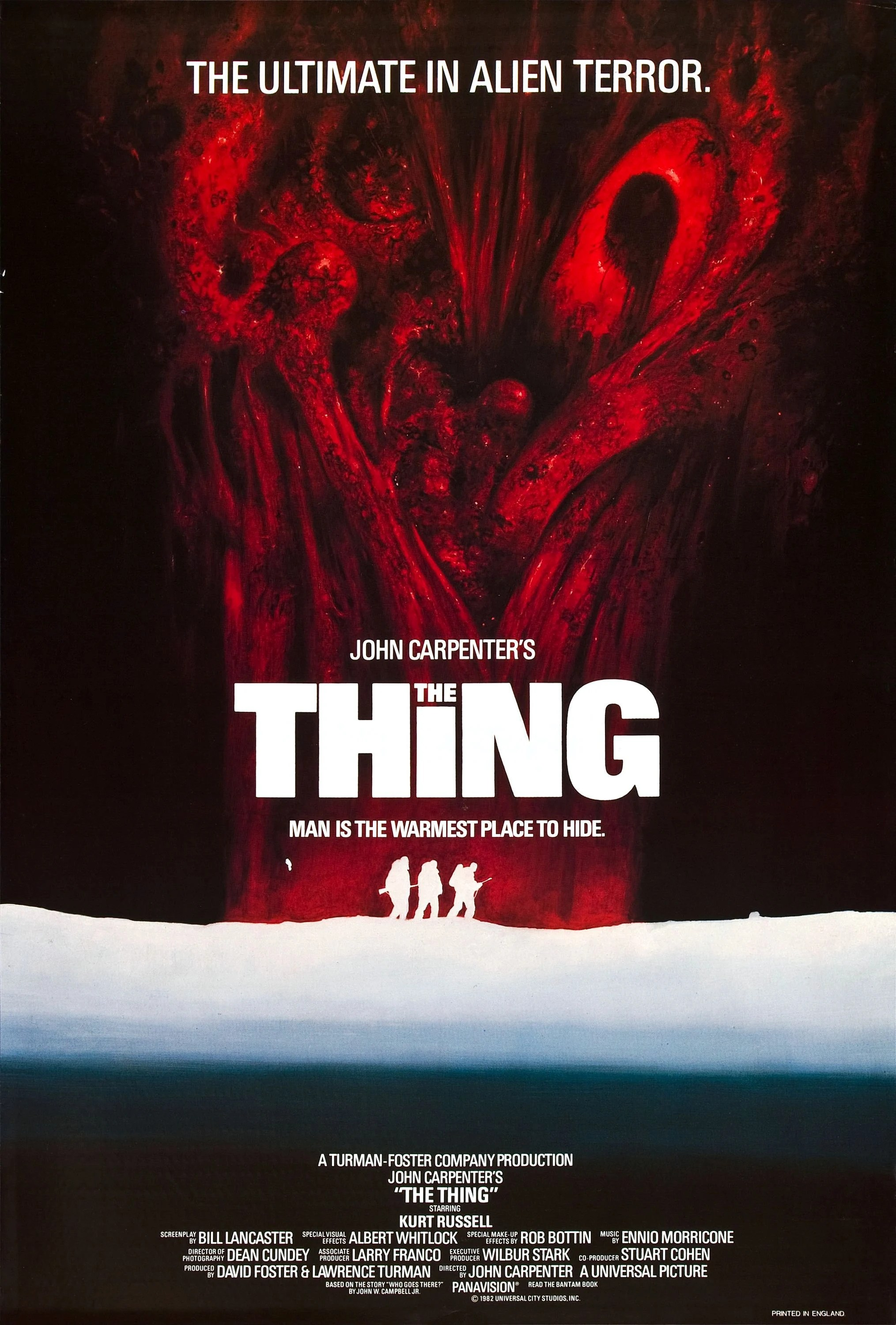 printable the thing 1982 ver 3 vintage poster