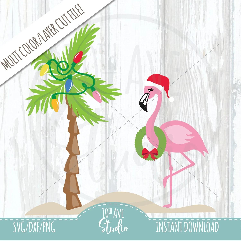 Christmas Flamingos Logos
