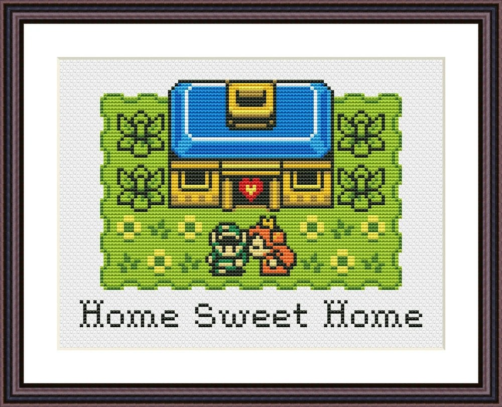 Sweet home's jennifer welch changed that. Legend Of Zelda Home Sweet Home Funny Modern Cross Stitch Etsy