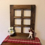Rustic 6 Pane Wood Window Frame With Shelf Rustic Wall Decor Primitive Decor For Living Room Handmade Wood Window Frame Small Shelf