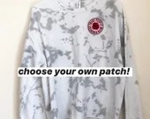 Tie Dye Sweatshirt with OPTIONAL patch (M)