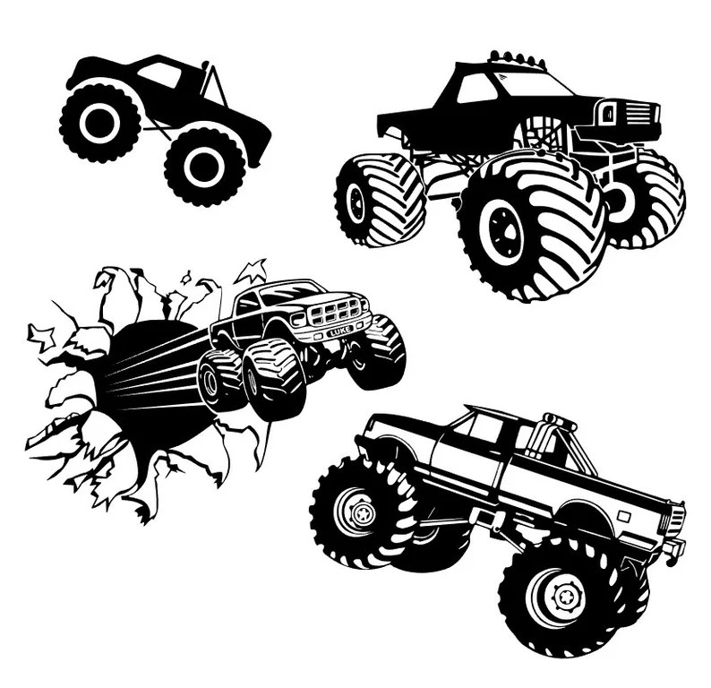 Download Monster truck big truck off road silhouette svg cut file ...