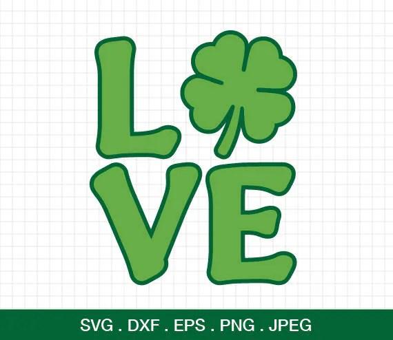 Download St patrick's day svg Shamrock Svg Shamrock love SVG | Etsy