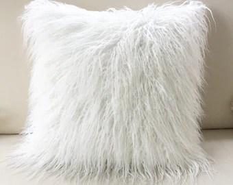 faux fur pillow etsy