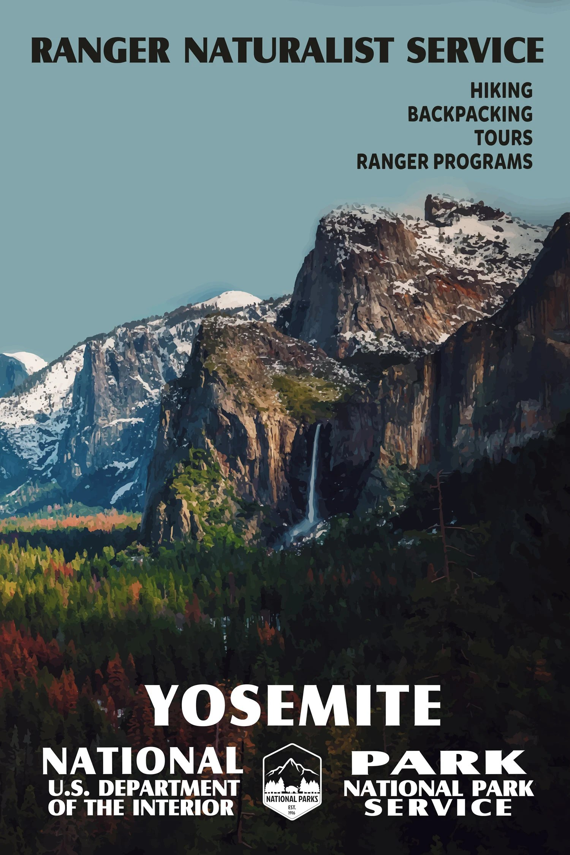 yosemite national park poster yosemite national parks wpa poster vintage poster national parks national park art national park poster
