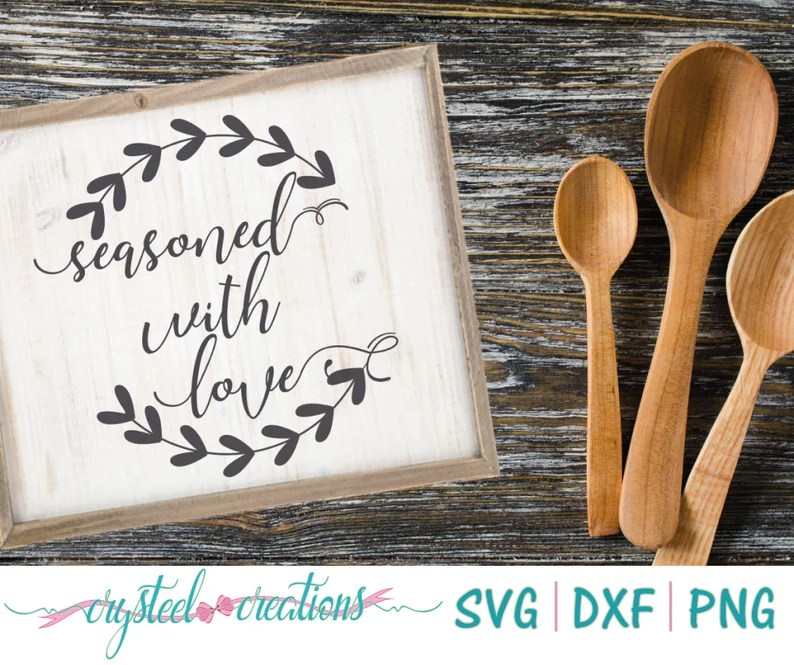 Download Seasoned with love Wreath PNG SVG DXF Farmhouse style   Etsy