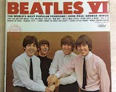 Rock LP Beatles VI Vintag...