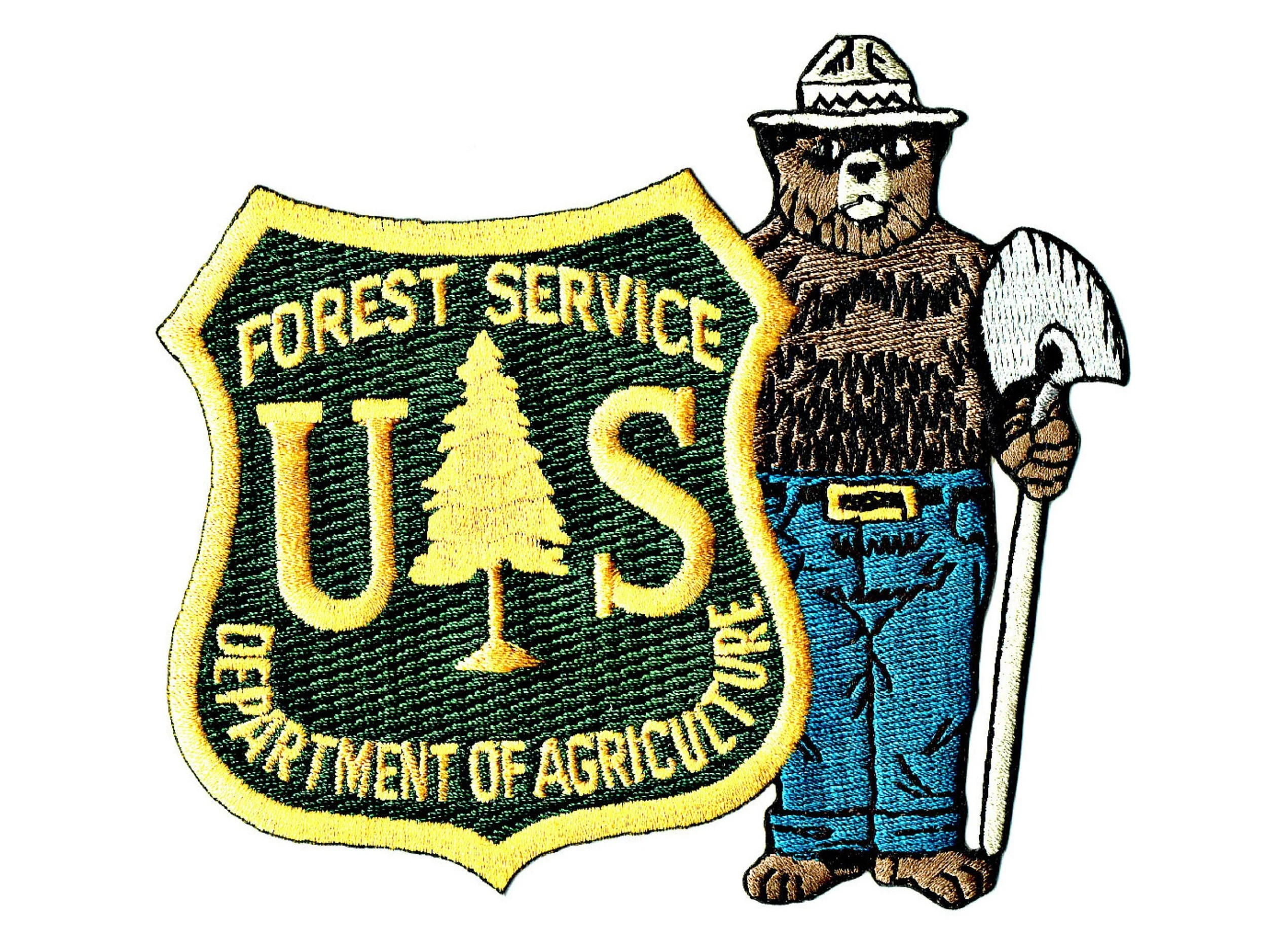 There are 310 cities in the united states with a population of 100,000 or more, according to 2018 us census figures. Smokey Bear Us Forest Service Shield Embroidered Official Etsy
