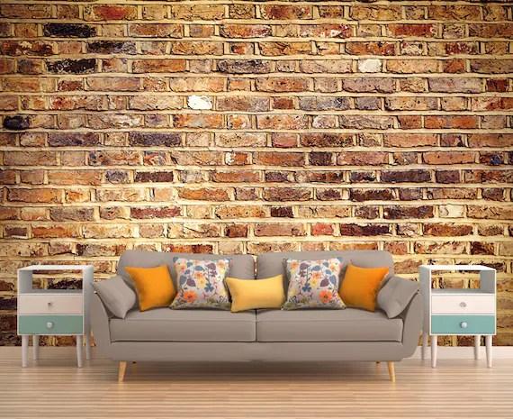 Bricksby abbellisce lo spazio in modo elegante e senza tempo, e allo stesso tempo è a misura di bambino perché morbido e caldo al tatto. Murale Di Mattoni Mattoni Carta Da Parati Mattoni Murale Etsy