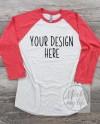 Next Level 6051 Red Raglan Flat Lay Mockup Shirt Mockup Etsy