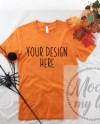 Burnt Orange Bella Canvas 3001 Styled Flat Lay Mockup Orange Etsy