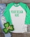 Envy Green Next Level 6051 Mock Up St Patricks Day Mockup Etsy