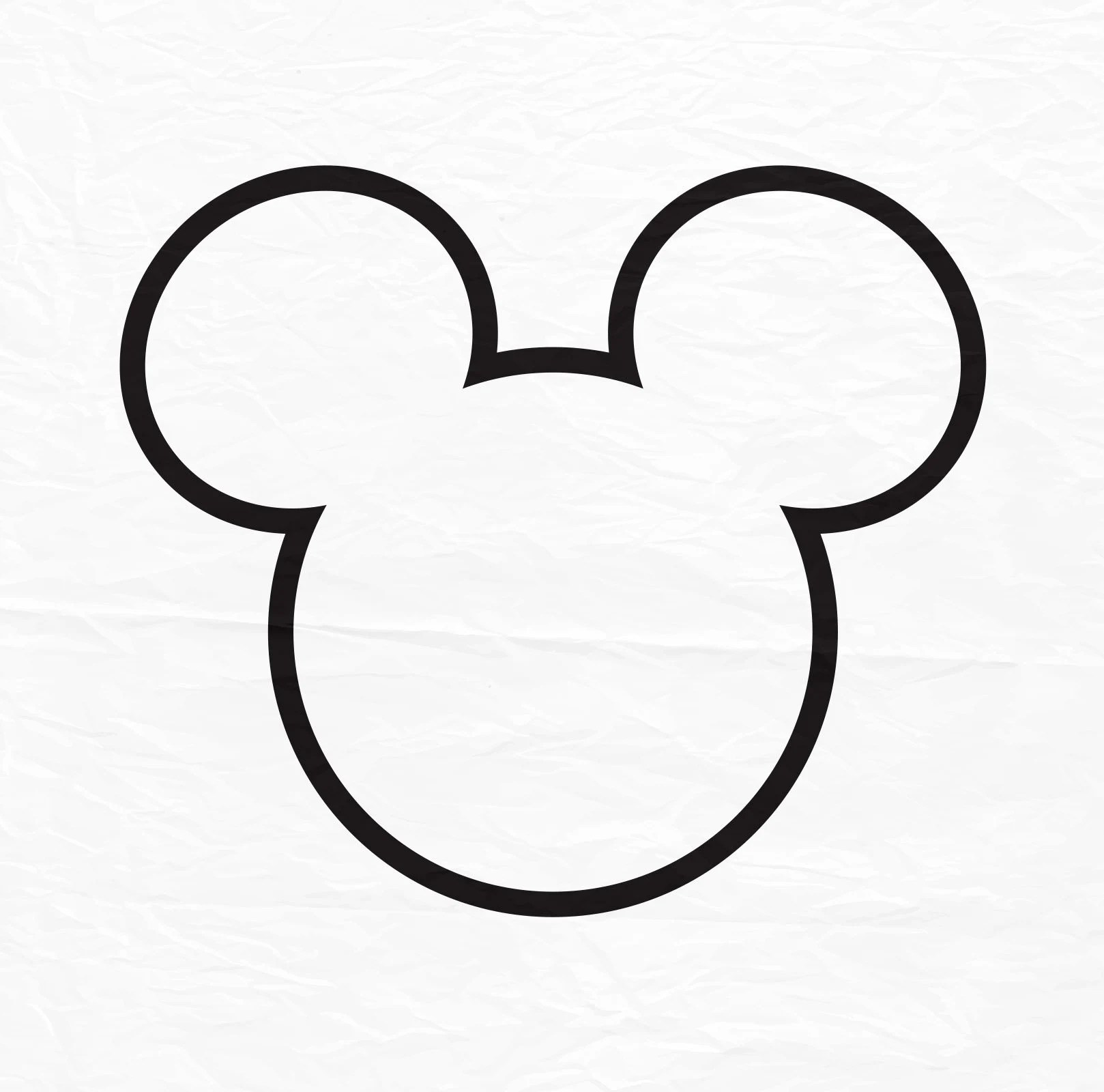 Mickey Mouse Outline Mickey Mouse Svg Instant Download