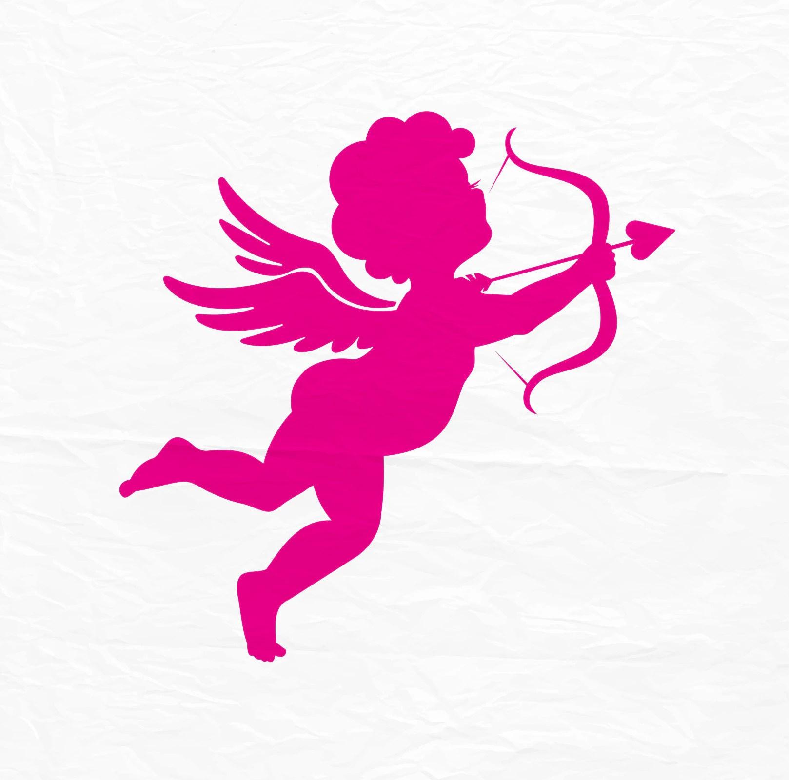 Cupid SVG Cupid Silhouette Love SVG Couple SVG Cupid Cut