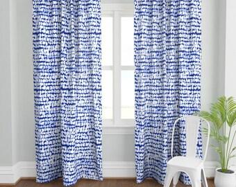 cobalt blue curtain etsy