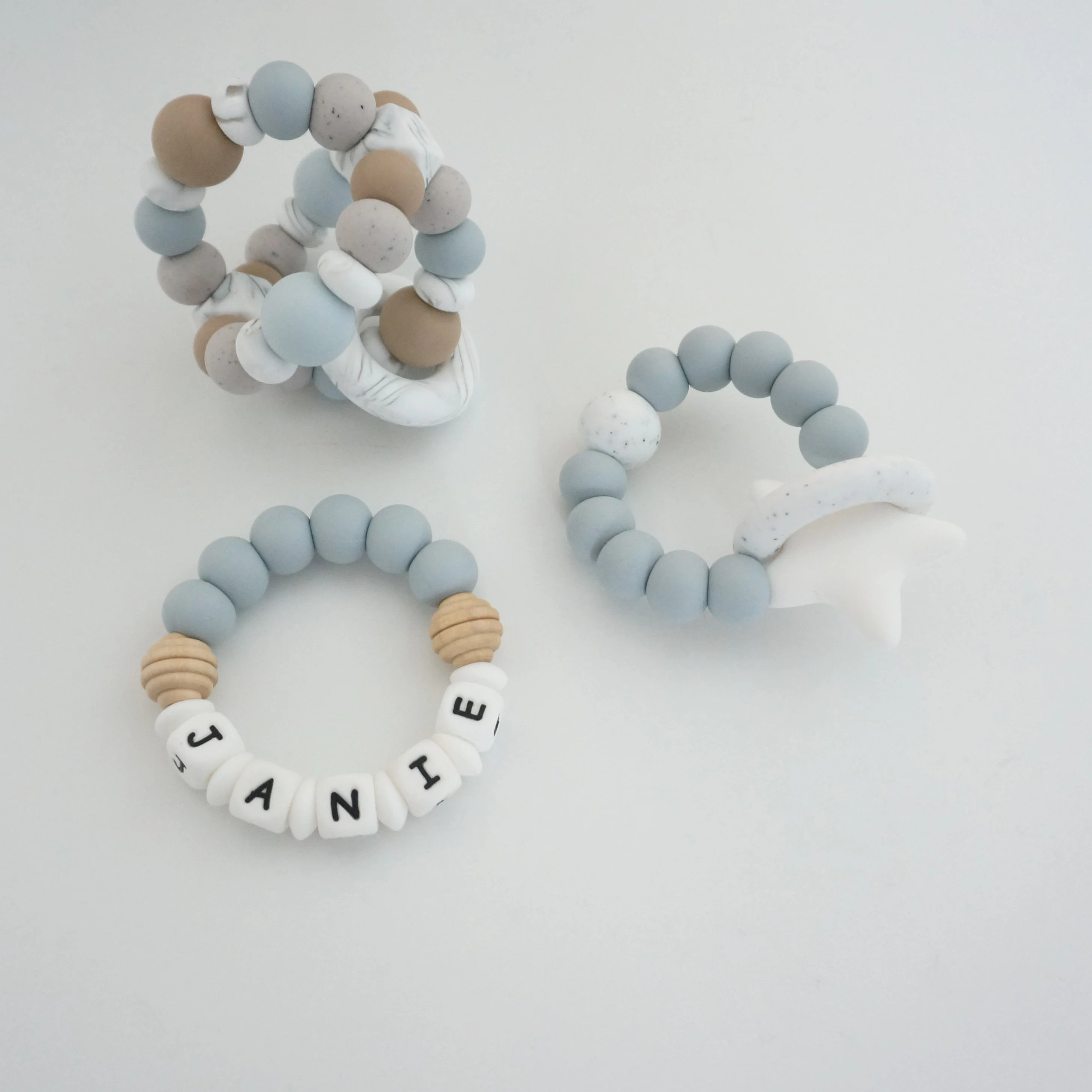 Solar Molar Teething Ring  All Silicone Teether  Star image 3