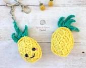 Pineapple Keychain Crochet Pattern