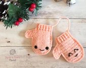 Mittens Ornament Crochet Pattern