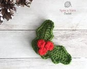 Holly Ornament Crochet Pattern